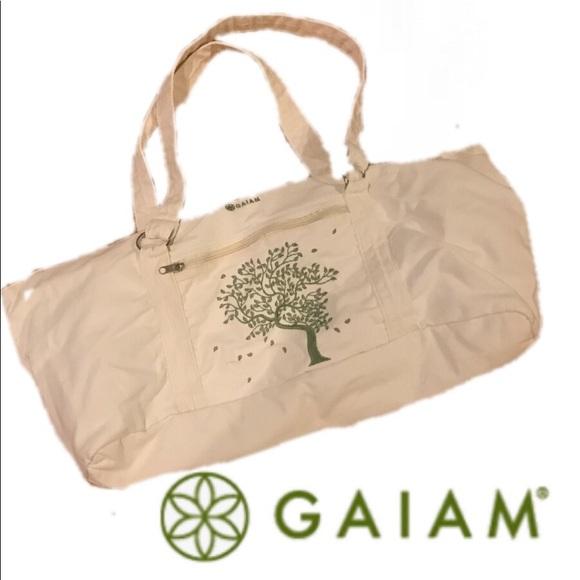 87552e1c7f GAIAM Handbags - Gaiam Natural Cotton Duffle Yoga Bag
